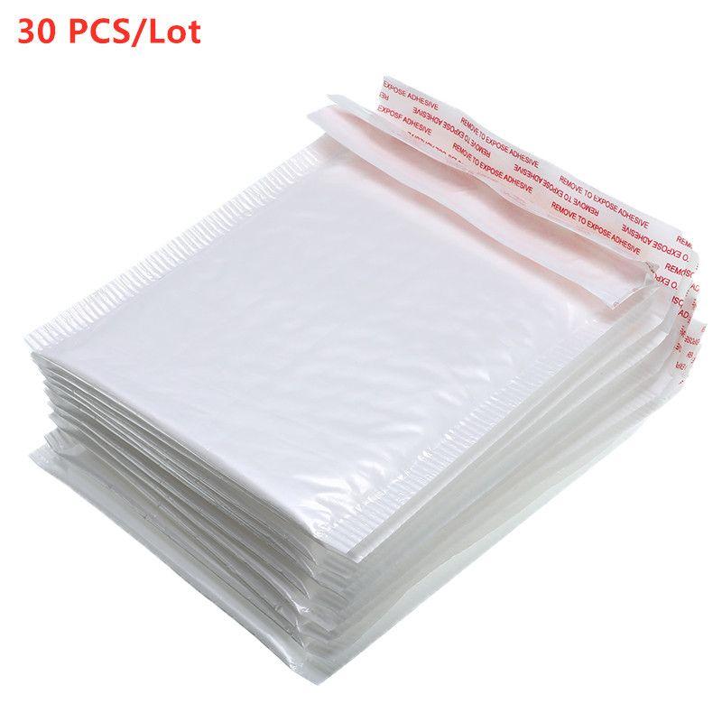 Hot Sale30 PCS / Bolsa Envelope Lot Branco Espuma especificações diferentes Mailers acolchoado envio envelope com bolha Mailing Bag