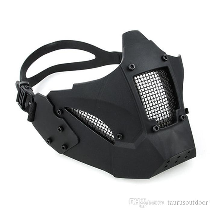 AR 15 액세서리 장난감 총 전술 페인트 볼 액세서리 사냥 보호 남성 반 얼굴 제이 빠른 마스크 AF 헬멧 촬영