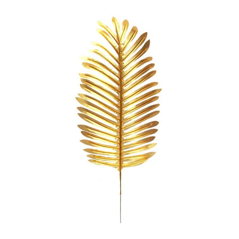 6-PCS artificial coco Plantas Plantas Hojas imitación hoja artificial de imitación falso tropical grande para el hogar Disposición selva Bir