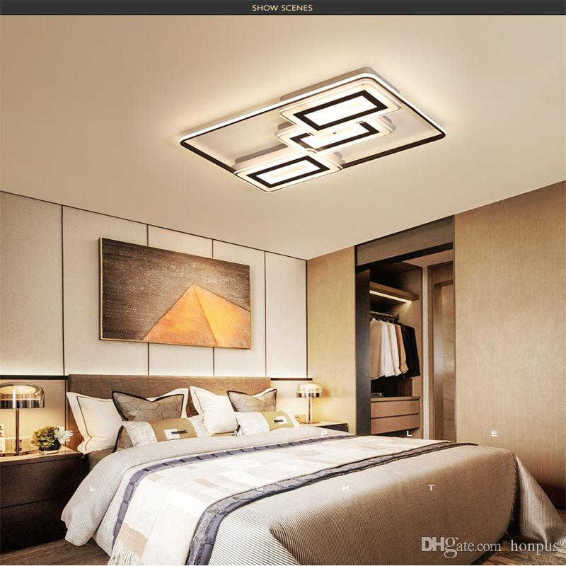 Creative Square Led Ceiling Lamp Ultra Thin Ceiling Light Simple Modern  Nordic Bedroom Lighting Fixtures RC Dimmable Led Pendant Lights Pendant ...