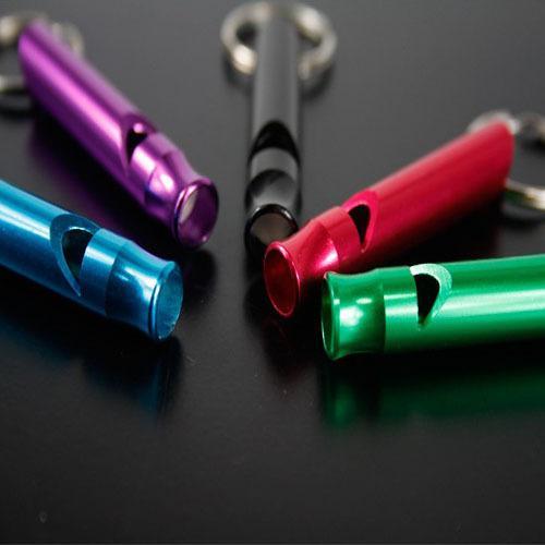 미니 여러 색상 알루미늄 합금 서바이벌 휘슬 하이킹 캠핑 구조 도구 키 체인 키링 스포츠 경기 훈련 호각 M70R