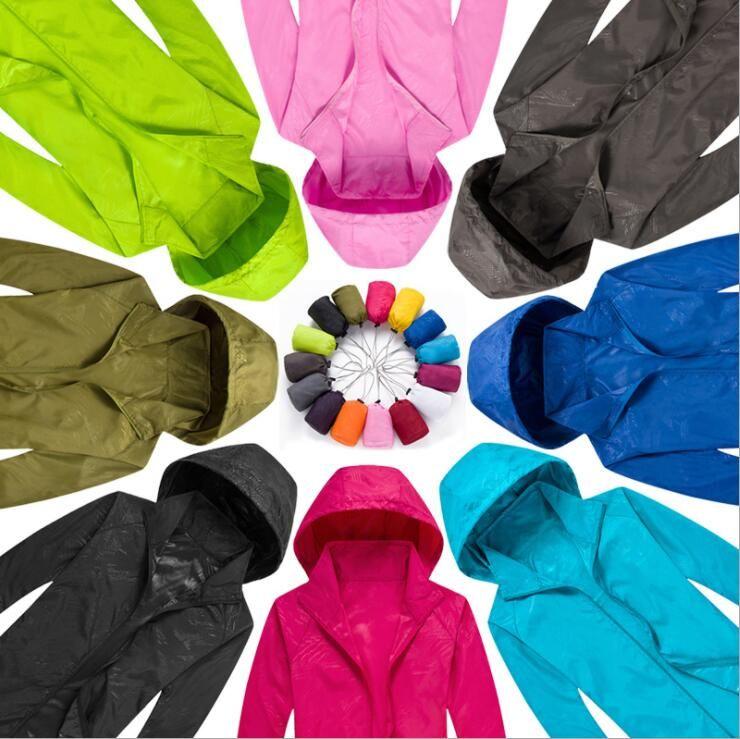 New Summer Women/ Men's Brand Rain Jacket Coats Outdoor Casual Hoodies Windproof and Waterproof Sunscreen Face Coats Black White XS-XXXL