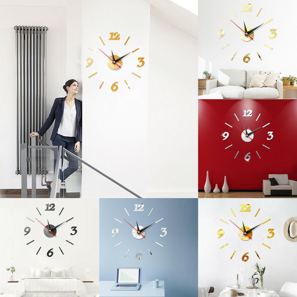 Home Decor Large Diy Number Wall Clock 3d Mirror Sticker Modern Home Office Decor Art Decal Vinyl Wall Stickers Decals Vinyl Wall Stickers Quotes From Wanghongmei8888 4 9 Dhgate Com