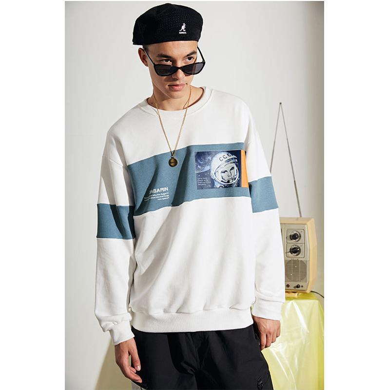 Mens MarkeHoodie Sweater Designer Astronauts Drucken beiläufige Hoodies der Männer Luxusmode-lose Hoodie asiatische Größe M-2XL Großhandel