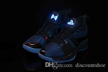 buy popular d4ce0 79880 (Light UP) Free Shipping Paul George 2 Playstation Blue Climbing Shoes Mens  PG 2 Playstation Shoes Size US 7-13 With Box