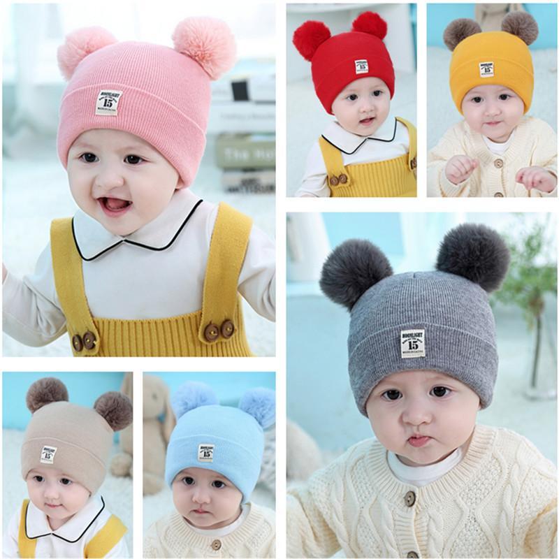 Шляпы малышей Детские Детские шапки Зимние теплые Knit Hat Beanie Cap Популярные высокого качества Ountdoors Мода грелка Круг Loop для девочек мальчиков