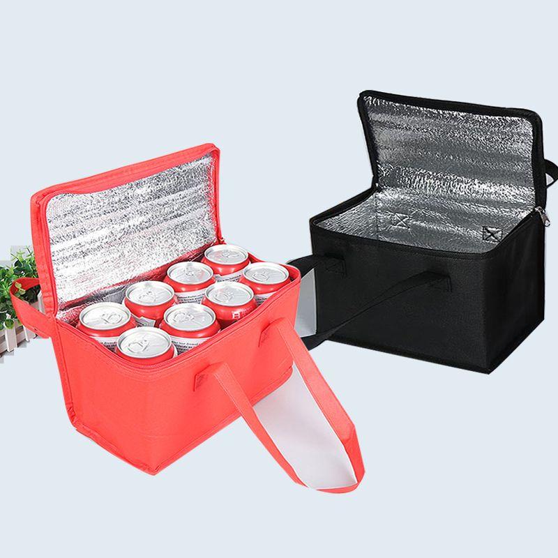 Folding Pranzo Picnic Cooler Bag per la bottiglia di Fresh Food Mantenere isolamento termico portatile Borse Impermeabile addensare Drink banchisa