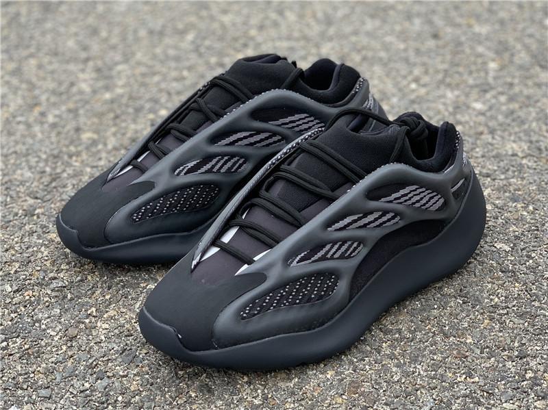 Novas Kanye West Originals 700 V3 Alvah todo preto Azael Running Shoes 3M reflexiva corredor da onda Homens Mulheres Sports Sneakers Com Box H67799