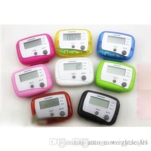 Multifunction Pocket LCD Pedometer mini Step Counter Single Function LCD Pedometers Digital Walking LCD Counters With Package