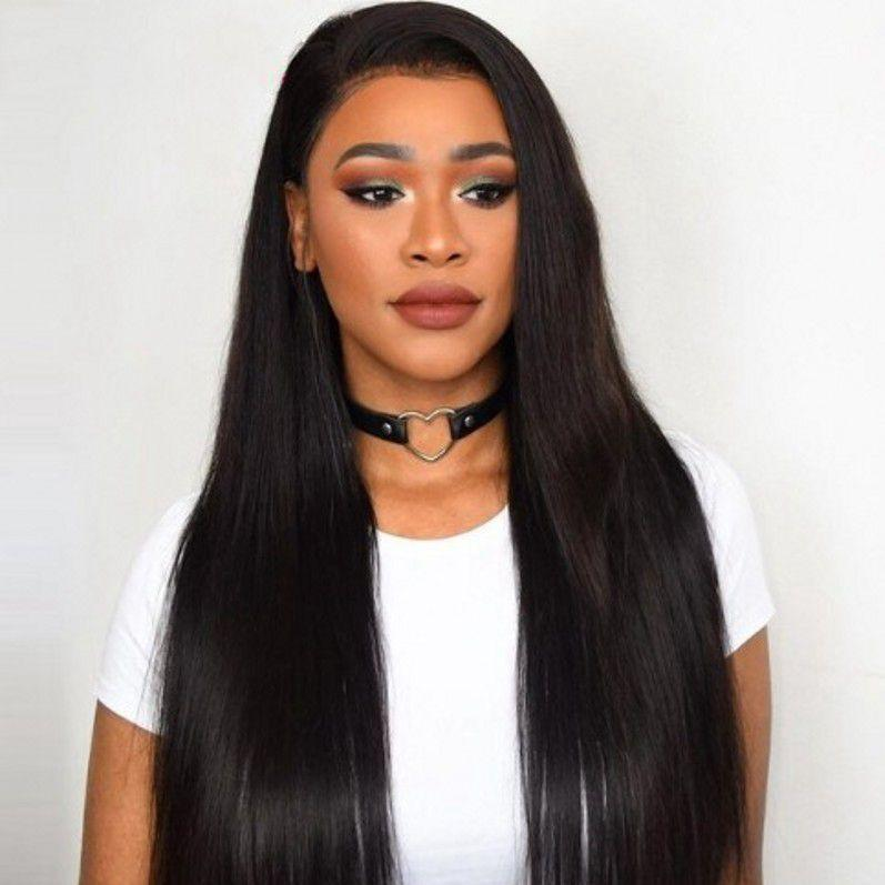 Lace Front Wigs with Baby Hair Malaysian Straight Pre Plucked Lace Front Human Hair Wig Natural Hairline