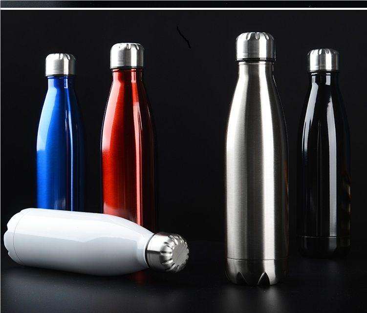 500 ml Custom Cola Shape Water Bottle Stainless Steel Bottle Sport Thermos Water Bottle For Outdoor