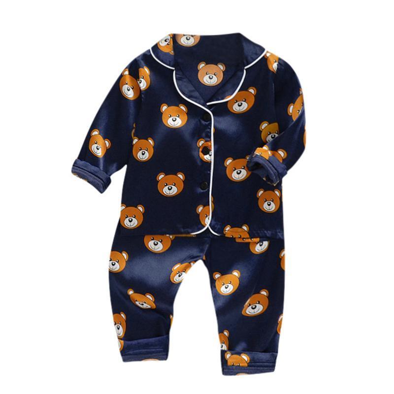 Baby-Pyjamas Sets 2020 neue Herbst Kinder Cartoon-Pyjamas für Mädchen Jungen Nachtwäsche langärmelige Baumwolle Nachtwäsche Kinderkleidung