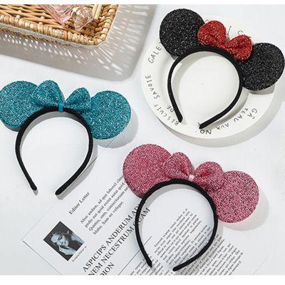 New headband sequined cat ears headband sequin hair accessories girl birthday party Animal Ear Headband Dance Party Festive Headwear