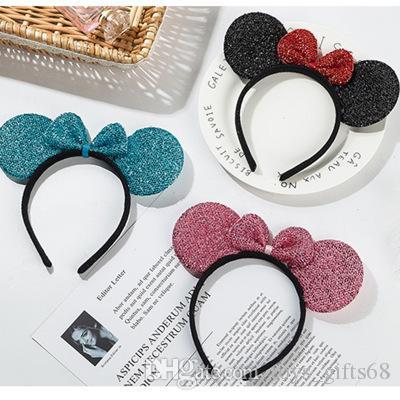 La nuova fascia di paillettes orecchie di gatto accessori per capelli fascia di paillettes festeggiata Orecchio di animale partito fascia Dance Party festiva Copricapo