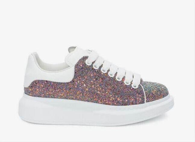 2020 al por mayor casuales zapatos de piel de becerro para mujer para hombre Plataforma zapatillas de deporte casuales zapatos de terciopelo Colores sólidos vestido K2K de zapatos