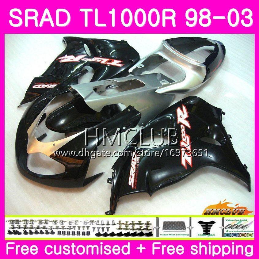 Einspritzung für SUZUKI SRAD TL 1000 R TL1000R 98 99 00 01 02 03 16HM.0 TL1000 R TL 1000R 1998 1999 2000 2001 2002 2003 Verkleidung Schwarz glänzend
