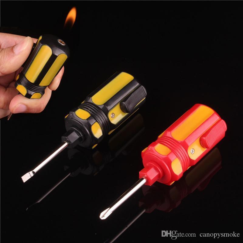 Nuovi stili creativi cacciavite Forma novità gonfiabile Lighter Gas Cigarette Igniter per Home Collection