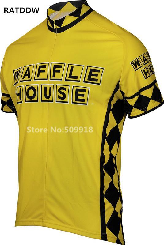 Мужская вафельный Дом Джерси велосипеда верхней коротким рукавом задействуя одежда на открытом воздухе спортивной верхней одежды Желтый