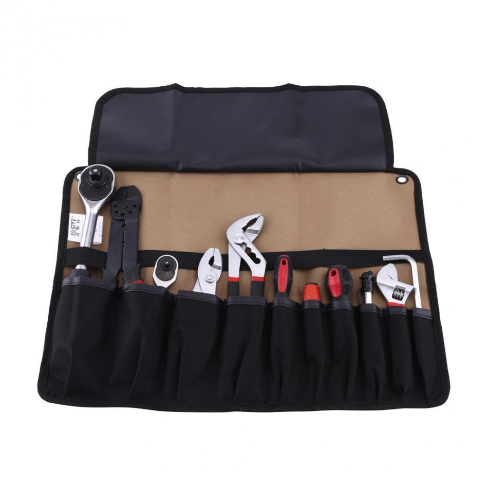 Hand Tool Bag Oxford Cloth 600D Storage Bag 45x32cm Foldable Tool Bag Roll Pouch Electrician Tools Storage Convenient Holder