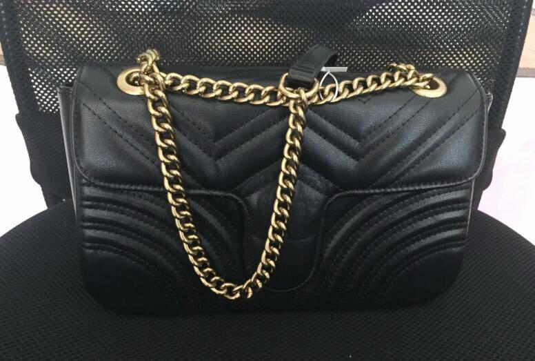 De alta calidad bolsos de hombro de las mujeres marmont cadena de oro bolsos bolsa crossbody superior del diseñador bolsa de mensajero del bolso mensaje de calidad # 5541