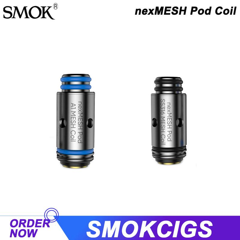 SMOK & OFRF nexMesh Pod Coil 0.4ohm SS316 nexMESH Coil and 0.4ohm A1 nexMESH Coil for MTL&DTL Vaping 5PCS/PACK Authentic