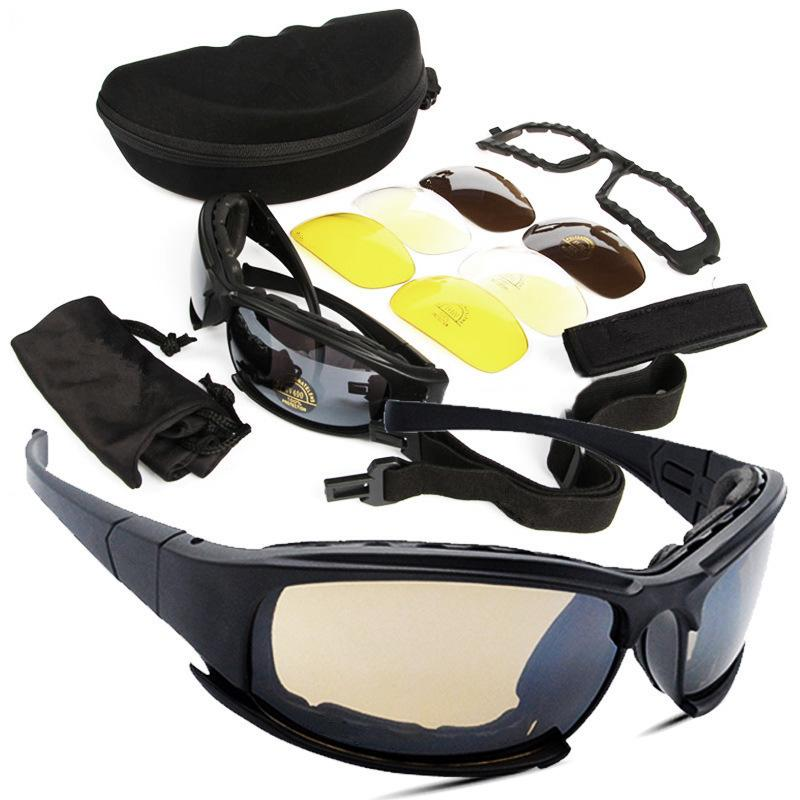 Dais With Fund Outdoors Gafas ciclistas CS Tactic Security Gafas para motocicleta / X7 Polarized Light Suit Lentes tácticas de resina