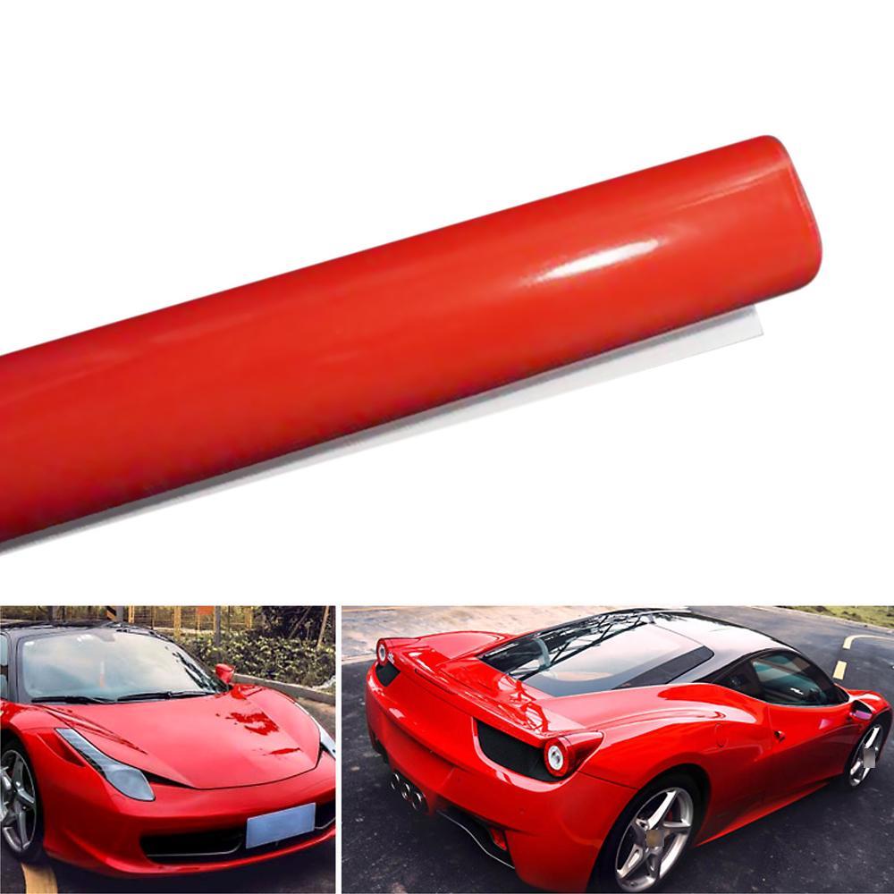 에어 출시 자동차 스타일링 액세서리와 신축성 광택 비닐 필름 보호 자동차 비닐 랩 스티커