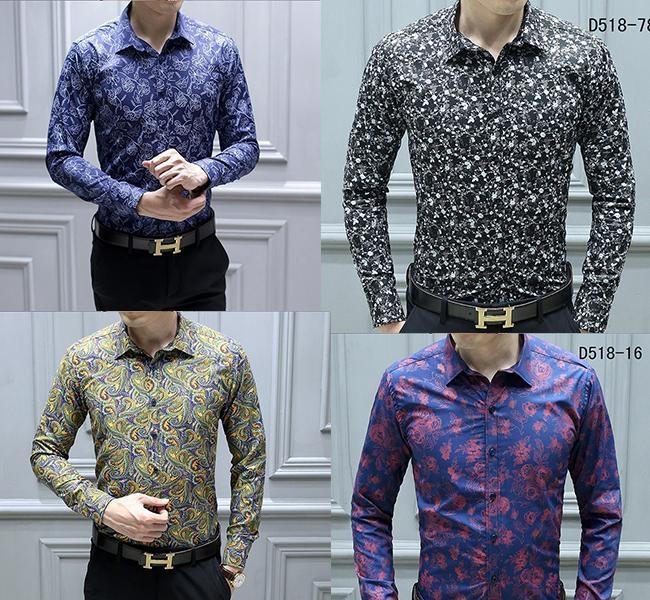 EspTmall Floral Shirt Men Casual Printed Button Down Short Sleeve Shirt Shirt Top Blouse Male Clothing Multicolor XXL China