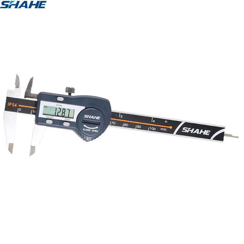 shahe Digital-Schieber 100 mm 0,01 mm elektronische Digital-Noniusschieber Messgerät Mikrometer-Edelstahl Messwerkzeug T200602