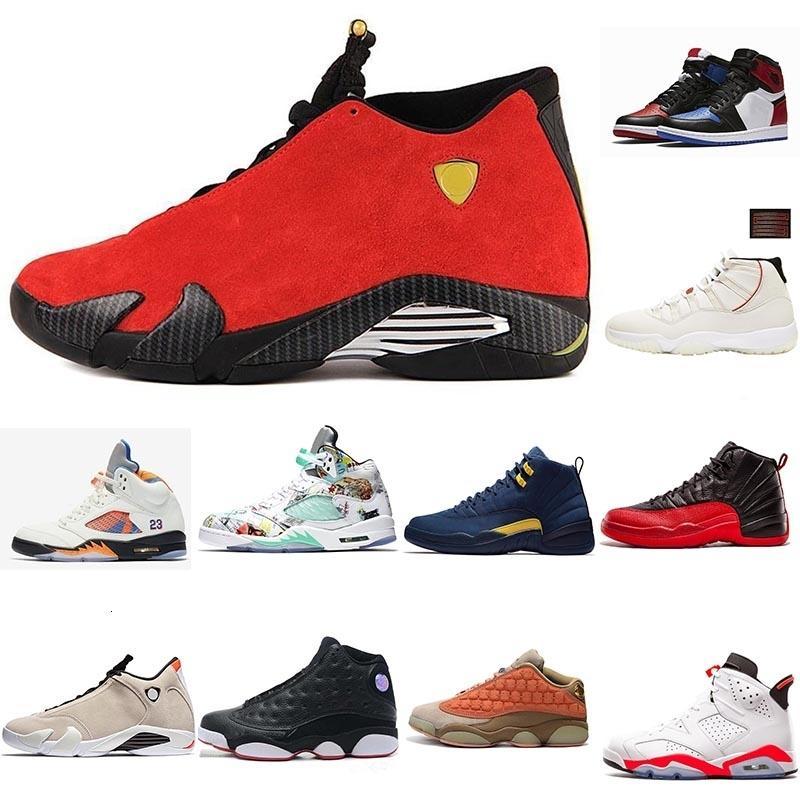 2019 Мужские Кроссовки 1s 4s 5s 11s 12s 13s 14s Gym Red Чикаго Платиновые Оттенок Космический джем Мужчины Баскетбол обувь Спорт Кроссовки 40-47
