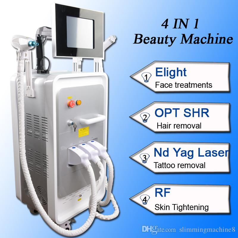 Newest OPT SHR hair removal machine Nd Yag laser backdoll treatment Tattoo Removal rf Skin Tightening face lift machine