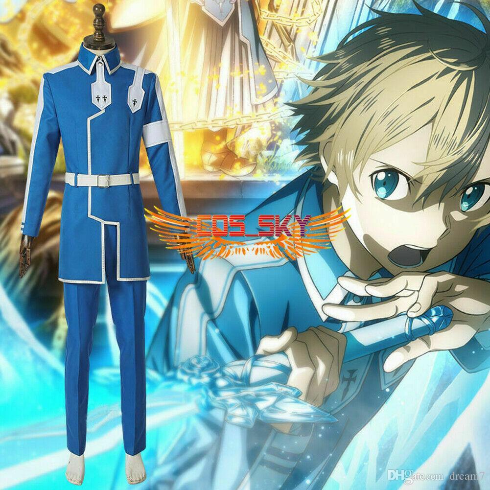 Sword Art Online Eugeo Anime Comic Cadılar Bayramı Cosplay Kostüm Custom Made