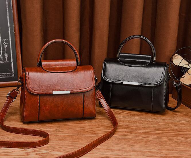 peau d'huile sac tendance des femmes européennes et américaines sac femmes avec un sac à double usage de l'épaule