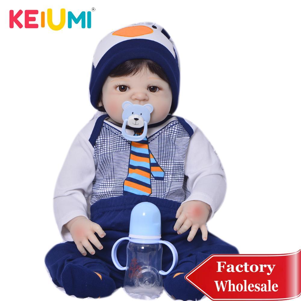 Limitado Recolha de 23 polegadas renascido boneca Brinquedos 57 Cm completa Silicone vinil realista T200209 belo presente bebês boneca meninos Kid aniversário