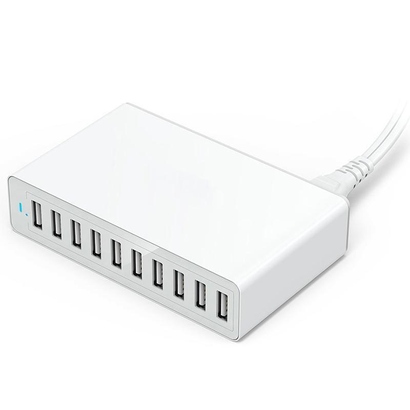 10 Порт нескольких Usb зарядное устройство Hub 50W 10A Fast Usb зарядное устройство USB Зарядное устройство Base Универсальный мобильный телефон питания для зарядки нового
