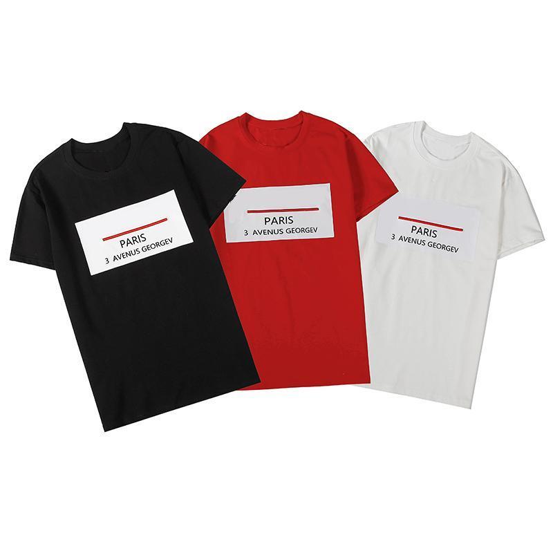 Lüks Erkek Tasarımcı T Gömlek Erkek Tasarımcı Pamuk Baskı Tişörtlü Kısa Kollu Moda Erkekler Kadınlar Yaz Kısa Kollu Tees 3 Renkler