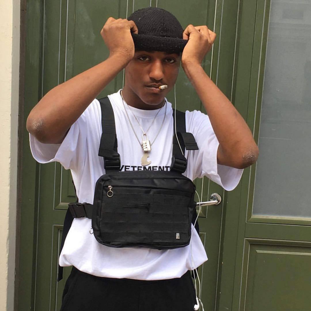 Nero pacchetto di Fanny maglia tattica militare molle della cassa Bag Hip Hop durezza Kanye marsupio tattico Alyx Chest Rig Bag Streetwear T200521