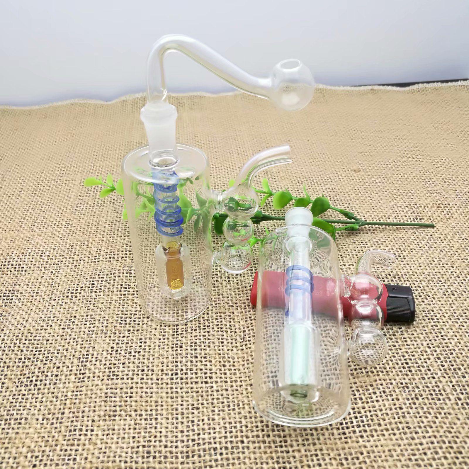 외부 Hulu 요리 실크 유리 담배 냄비 도매 봉 석유 버너 파이프 물 파이프 유리 파이프 오일 렌지 흡연 무료 배송