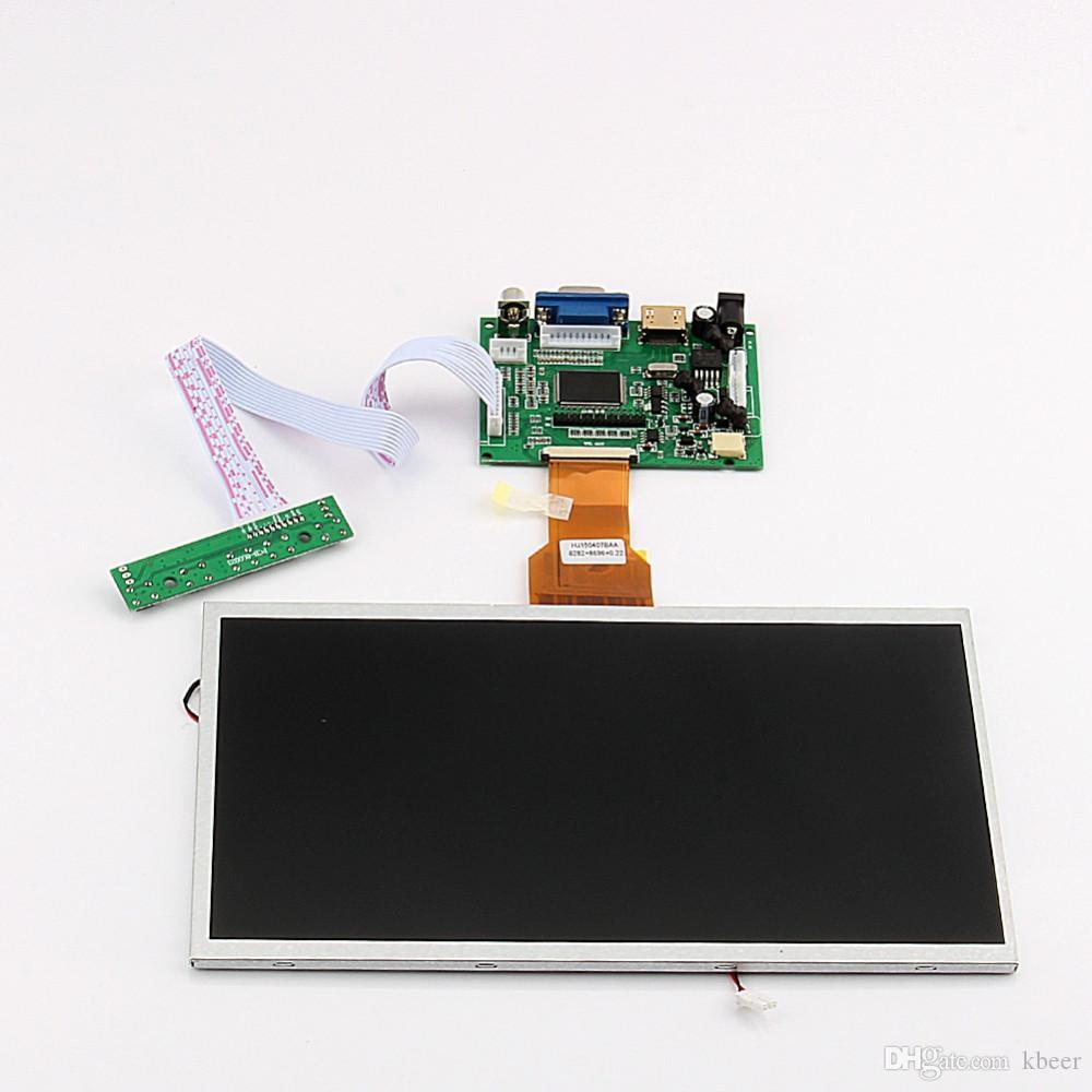 Freeshipping 10 inch Raspberry pi Display LCD TFT Shield Display Module HD-MI+VGA+Video Driver Board for Raspberry Pi