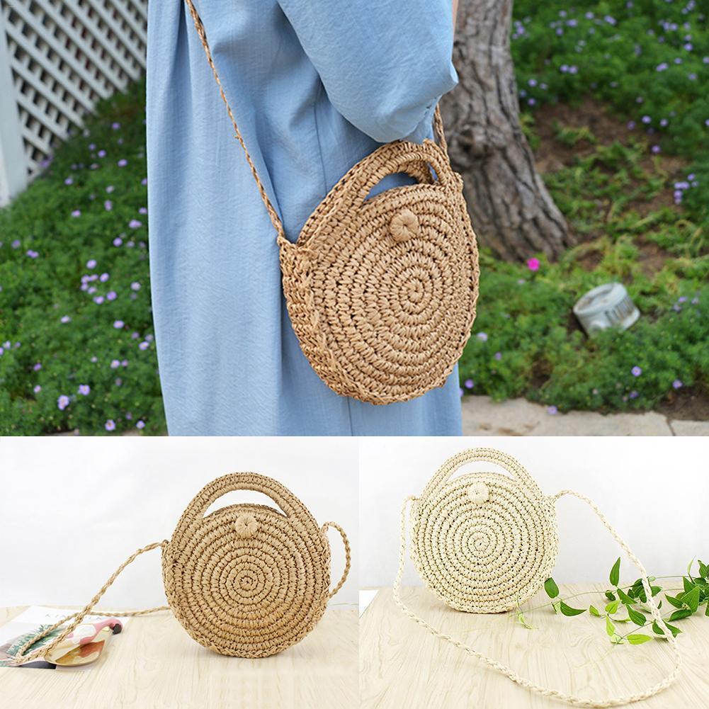 2018 Closet Organizer Retro Style Pure Hand-woven Package Beach Bag Household Storage Basket