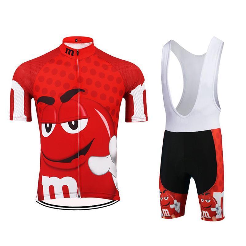 Portez des vêtements bavoir Gel de nuit Homme manches courtes VTT Cyclisme Costume Cartoon Maillot cyclisme Set été Jersey Vélo Quick-Dry
