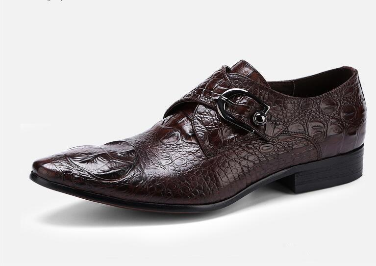 Moda Italiana Mens Sapatos Com Fivela Designer de Sapatos Masculinos Homens de Casamento Trabalho de Escritório de Negócios Calçado Festa Zapatos Hombre
