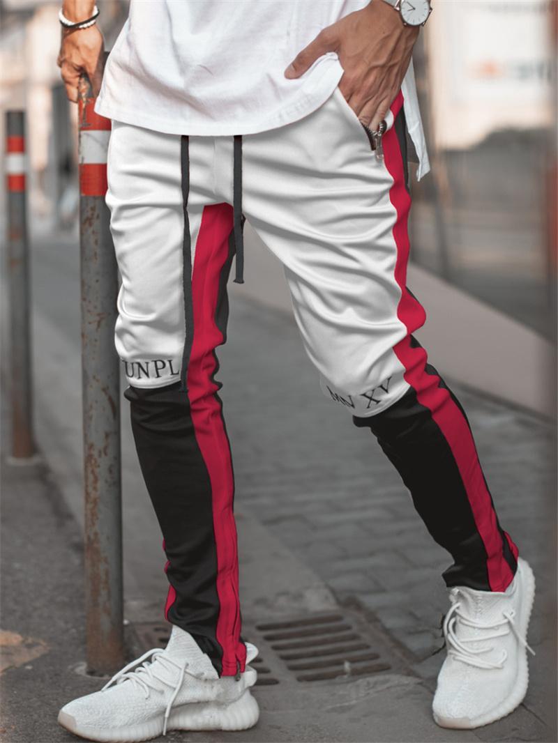 2020 Nova Primavera Marca Gym Sport calças Men Corredores retalhos de Fitness Musculação Mens Correndo Calças Runners Roupa Sweatpants MX200323