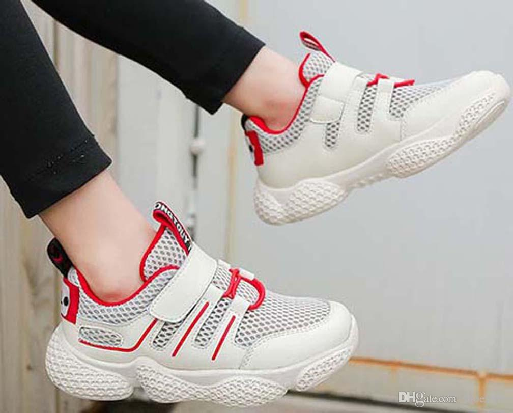 Лучшие качества Классический Sneaker Chaussures Enfants Мода Смарт тройные ботинки малышей платформы кожаных ботинок воздушных Chaussures shoes011 PX691