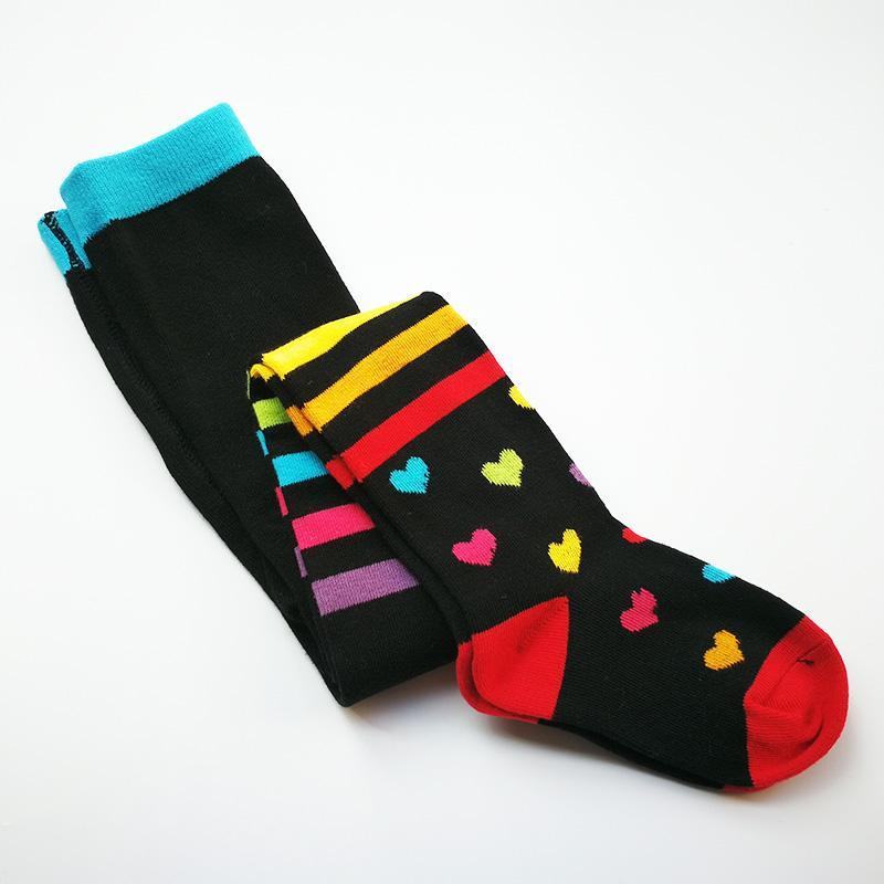 Новая Arriva осени ребенок девочка полосатых трико хлопковых колготки для девочек колена высоких носков детских колготок колготок с любовью