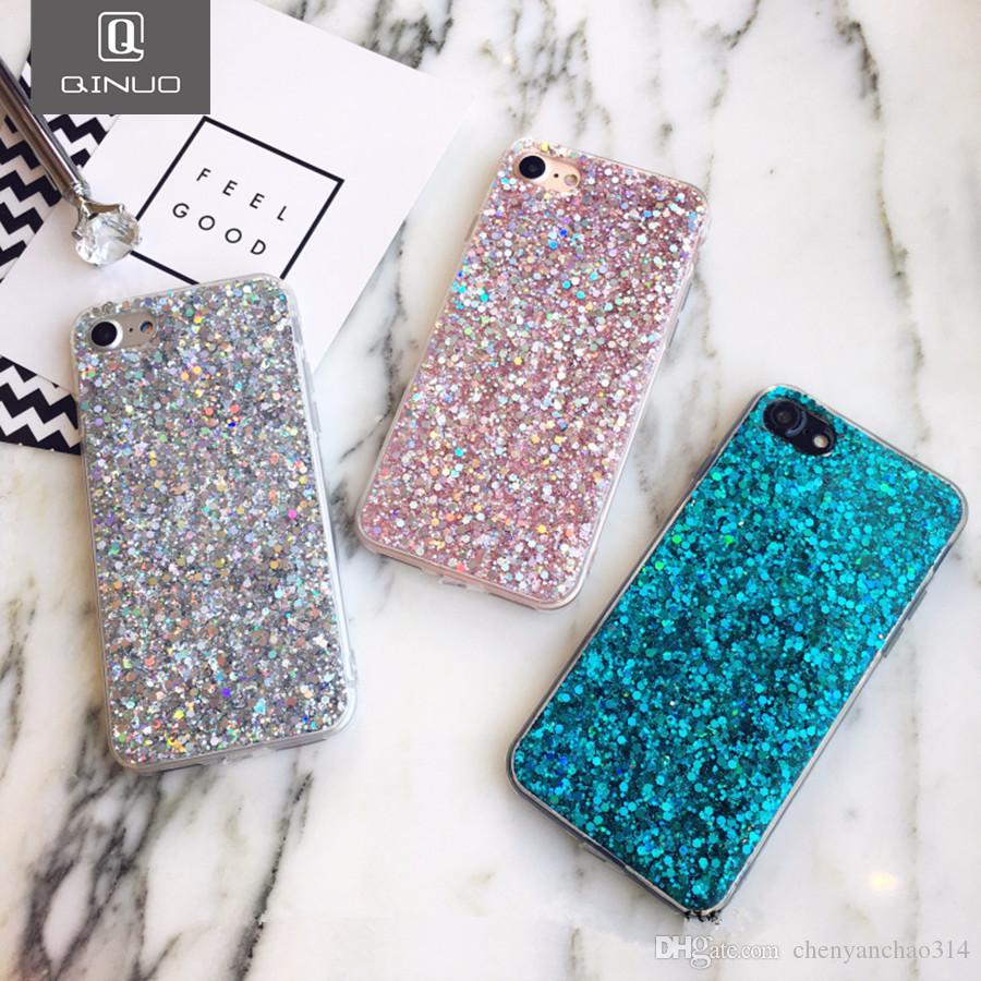 Silikon Bling Tozu Yumuşak Kılıf iphone 5 5 S 7 6 8 Artı X Shinning Glitter Telefon Kapak iphone XR XS Max Kılıfları Kabuk