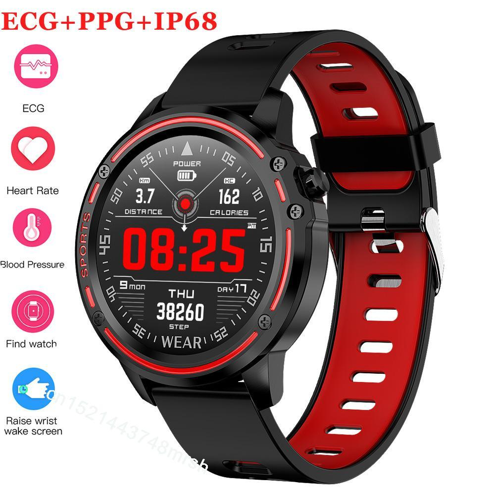 الضغط نوعية جيدة L8 الذكية ووتش رجال IP68 للماء ريلوخ هومبر ساعة ذكية مع ECG PPG الدم معدل ضربات القلب واللياقة البدنية سوار طاقم شؤون المرأة