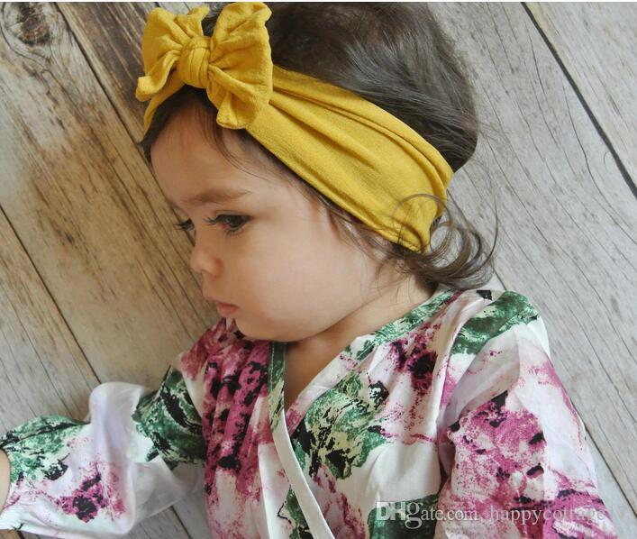 Hot europei e americani New Wave nylon 21 Colore bambino Hairband vendita calda Bow Bambino Copricapo