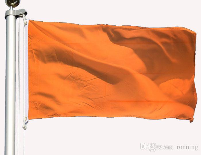 3x5 150x90cm Orange Flagge im Freien Innen Verwendung Hang Werbung Digital gedruckte Polyester, freies Verschiffen, im Freien Innen
