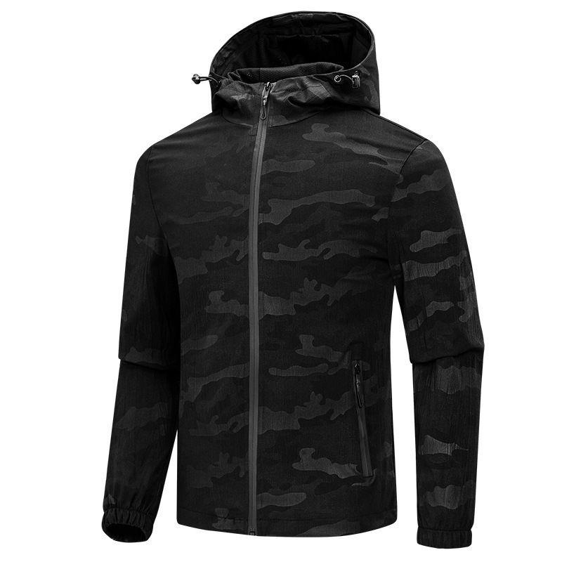 Siyah Mavi kamuflaj Erkekler Kadınlar sonbahar ceketler Erkek Giyim Coat Boyut M-4XL JK061 paltoları Erkek ceketler erkek
